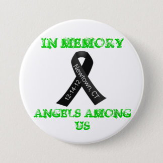 In Memory of Newtown, Ct 7.5 Cm Round Badge