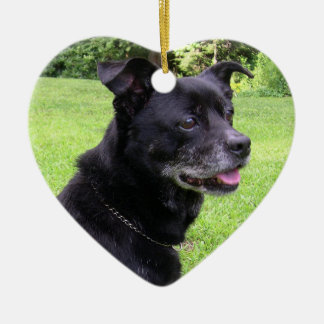 In Memory of Pets at Christmas Ceramic Heart Decoration