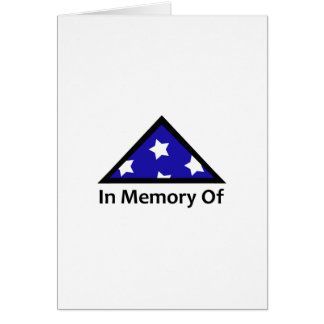 IN MEMORY OF SOLDIER CARDS