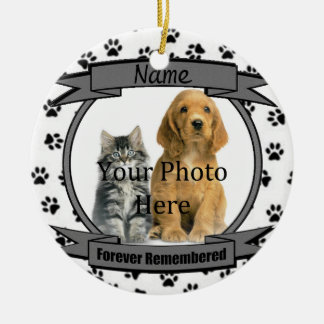 In Memory of Your Dog Forever Remembered Ceramic Ornament