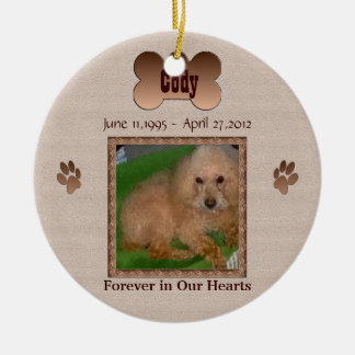 In Memory of Your Dog Round Ceramic Decoration
