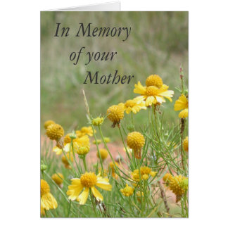 In Memory of your Mother Greeting Card