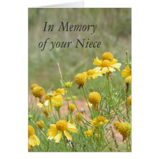 In Memory of your Niece Cards