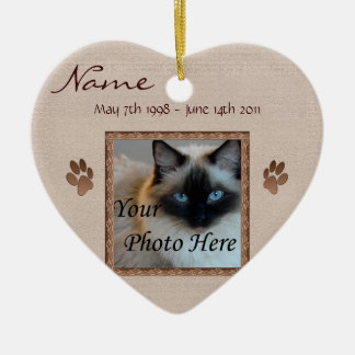 In Memory of Your Pet - Photo Memorial Ceramic Heart Decoration
