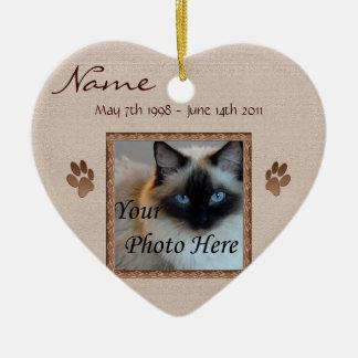 In Memory of Your Pet - Photo Memorial Ceramic Heart Decoration