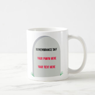 In memory remembrance day coffee cup basic white mug