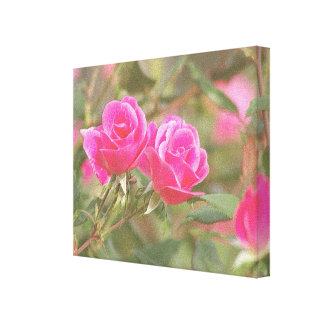 In My Garden, Embossed Rose 2 Canvas Print