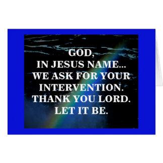 IN MY NAME (j16:24) Card