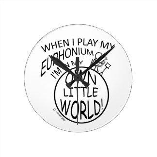 In My Own Little World Euphonium Wallclocks