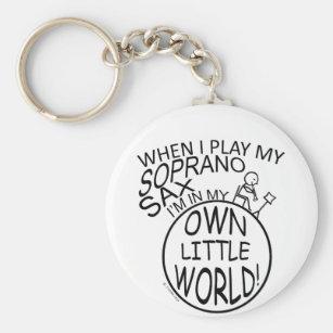 In My Own Little World Soprano Sax Key Ring