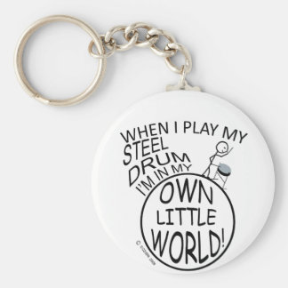 In My Own Little World Steel Drum Key Ring
