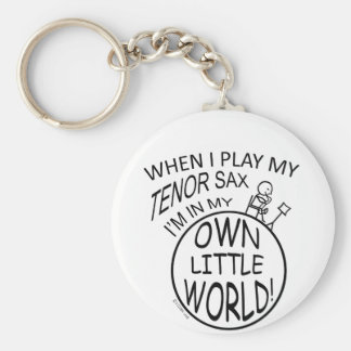 In My Own Little World Tenor Sax Key Ring