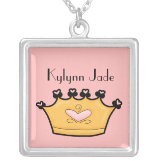 In My Pink Heart Everyday Princess Name Necklace