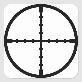 In My Sights Square Sticker