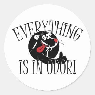 In Odor Skunk Classic Round Sticker