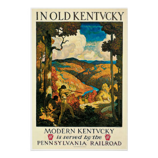 In Old Kentucky Vintage Travel Advertisement Poster