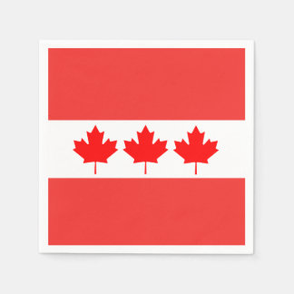 In Order Canada Day Party Paper Napkins Disposable Serviette