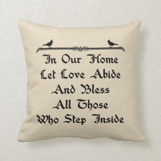 In Our Home Let Love Abide Farmhouse Throw Pillow