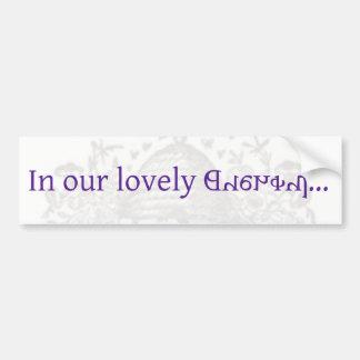 In our lovely Deseret Bumper Sticker