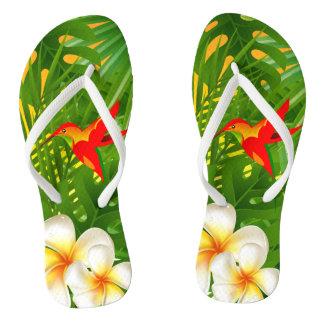 In Paradise - Tropical Hummingbird Thongs