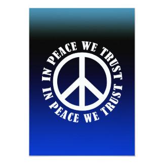 In Peace We Trust 13 Cm X 18 Cm Invitation Card