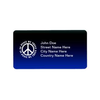 In Peace We Trust Address Label