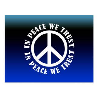 In Peace We Trust Postcard