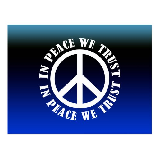 In Peace We Trust Postcards