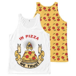 In Pizza We Trust All-Over Print Tank Top