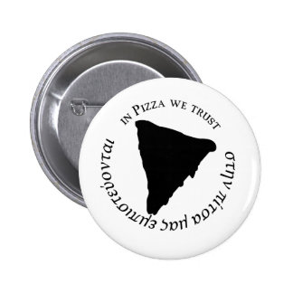 'In Pizza we Trust' Funny Graphic Design 6 Cm Round Badge