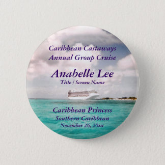 In Port Cruise Name Badge