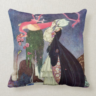In Powder and Crinoline Kaye Nielsen Fine Art Throw Pillow
