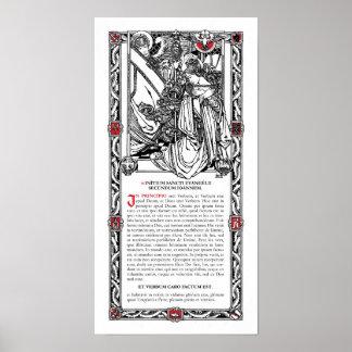 """In Principio"" Side Altar Card Poster"