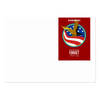 In Remembrance Patriots Day Retro Poster Business Cards