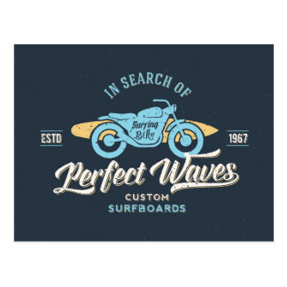 In Search Of Perfect Waves Poster Postcard
