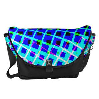 In Shapes Large Bag Blue Green Pink Messenger Bags