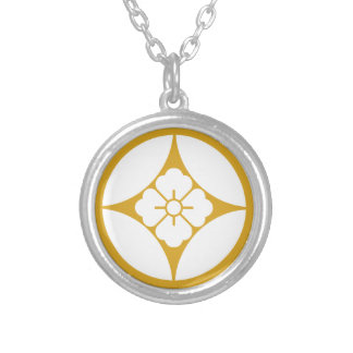 In Shippo flower angle Silver Plated Necklace
