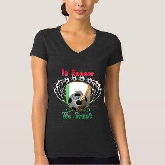 In Soccer We Trust Ladies V-Neck Jersey T-Shirt