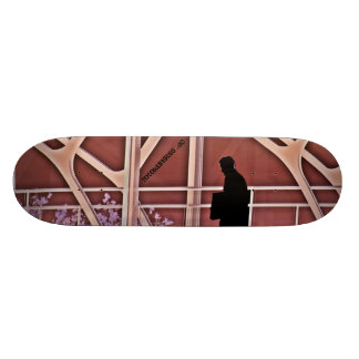 In spring skate board deck