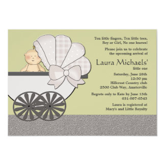 In Suspense (You Pick Background Color)Baby Shower 13 Cm X 18 Cm Invitation Card