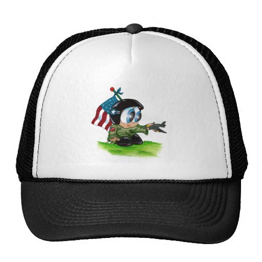 in the airforce mesh hat