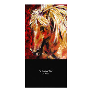 In The August Wind (Horse) Collectible Photo Card