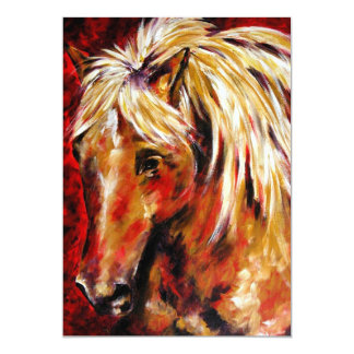 In The August Wind Palomino Horse 5x7 Mini Prints 5x7 Paper Invitation Card