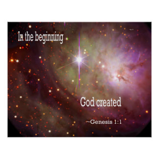 In the Beginning God Created Poster