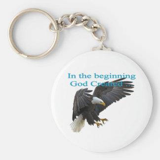In the Beginning Key Ring