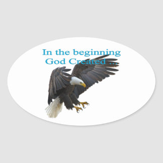 In the Beginning Oval Sticker