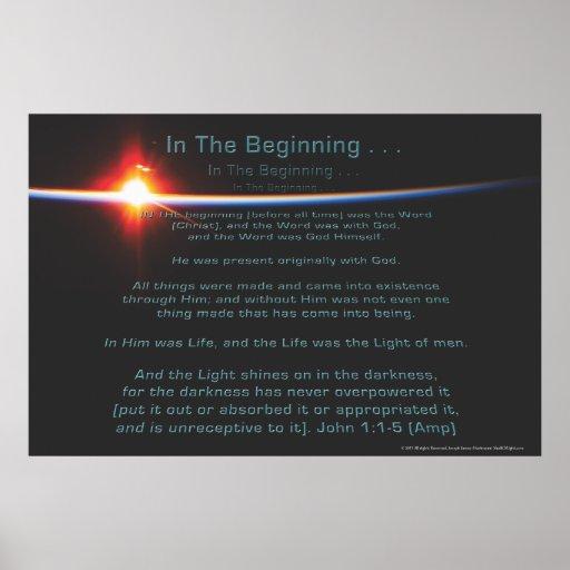 In The Beginning Poster by Joseph James (Hartmann)