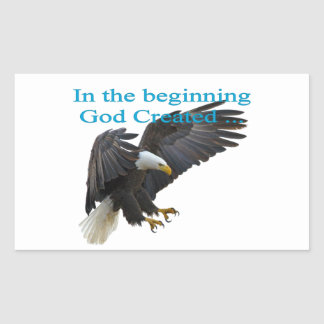 In the Beginning Rectangular Sticker
