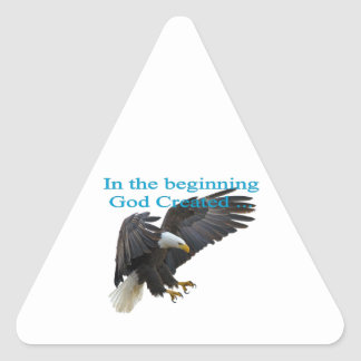 In the Beginning Triangle Sticker