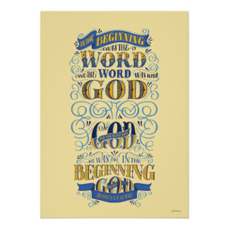 In the Beginning Was the Word Poster